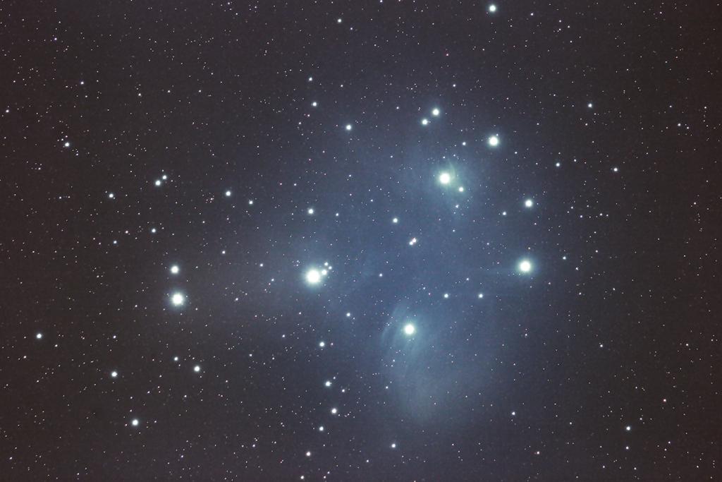 Der Offener Sternhaufen M45 (Plejaden)