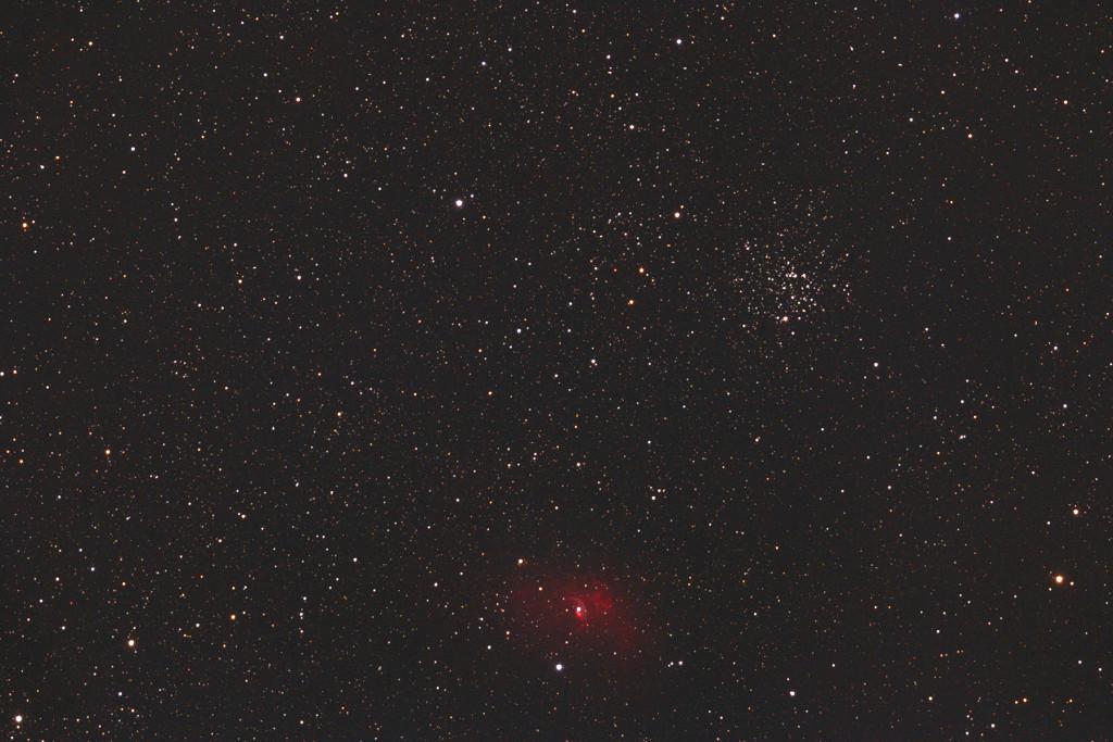 Offener Sternhaufen M52 und die HII Region NGC 7635